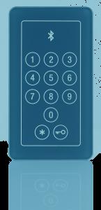BioKey Bluetooth_Touch Code im Glass Design_Blau_1
