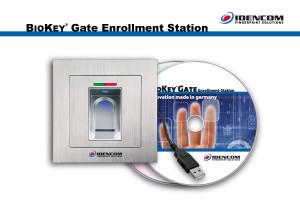 BioKey Gate Enrollment station CD